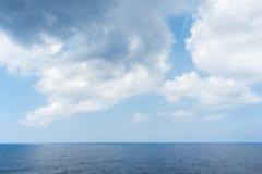 Denny horyzont i chmurny niebo Obraz Stock