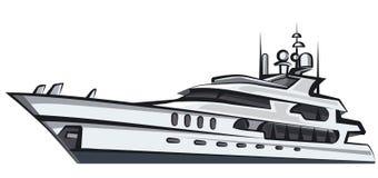 Denny jacht ilustracji