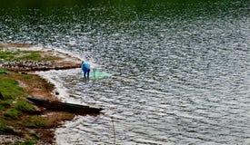 Denny jezioro Zdjęcia Royalty Free