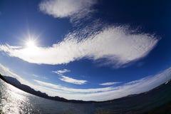 denny niebo zdjęcie stock