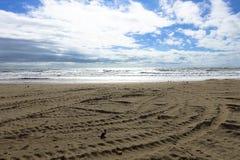 Denny ocean z plażą Cadiz w Andalusia, Hiszpania obraz stock