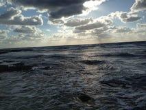 Denny oceanu Karaiby świt Zdjęcia Royalty Free