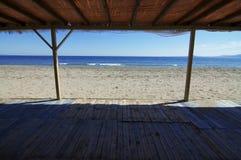 denny plażowy widok nieba Fotografia Stock