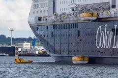 Denny ratowniczy ćwiczenie na Kiel Fjord, KIel, Niemcy Obrazy Royalty Free