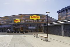 Denny`s American Diner. Swansea, UK: March 08, 2018: The first Denny`s American Diner to open in the UK was in Swansea in 2017 creating 70 jobs. Denny`s was one Royalty Free Stock Images