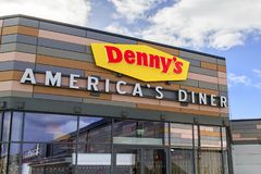 Denny`s American Diner. Swansea, UK: March 08, 2018: The first Denny`s American Diner to open in the UK was in Swansea in 2017 creating 70 jobs. Denny`s was one Stock Photography
