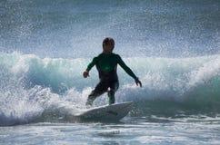Denny surfing Obraz Stock