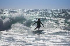 Denny surfing Zdjęcia Royalty Free