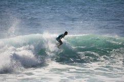Denny surfing Fotografia Royalty Free
