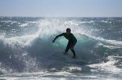 Denny surfing Obrazy Royalty Free