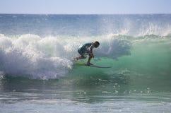 Denny surfing Fotografia Stock