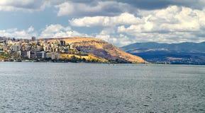 Denny widok Galilee - kinneret jezioro od góry obraz royalty free