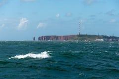 Denny widok heligoland wyspa Fotografia Stock