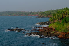 Denny widok od Cabo De Rama fortu blisko Agonda plaży, Goa stan, I Fotografia Stock