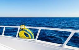 Denny widok od pokładu statek Zdjęcia Stock