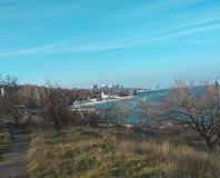 Denny widok Odessa, Odessa region Obraz Royalty Free