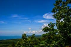 Denny widok, odgórny widok Południowy Tajlandia Obrazy Royalty Free