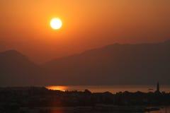 denny wschód słońca Zdjęcia Stock