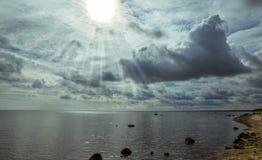 Denny wybrzeże przed burzą Zdjęcie Stock