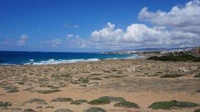 Denny wybrzeże Cypr fotografia royalty free