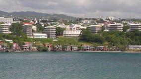 Denny wybrzeże i miasto Fort-de-France, Martinique zbiory wideo