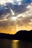 denny zachmurzone niebo słońce Zdjęcie Royalty Free