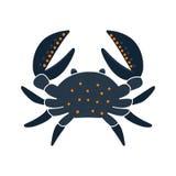 Denny zmrok - błękitna kreskówka kraba ilustracja odizolowywająca royalty ilustracja
