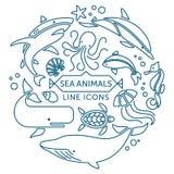 Dennych zwierząt kreskowe ikony Obraz Stock