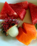 Denominação exótica do alimento do compositon do fruto Fotos de Stock