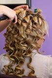 Denominação nupcial do cabelo Fotografia de Stock Royalty Free