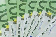 Denominaciones euro Foto de archivo libre de regalías
