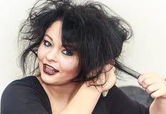 Denominando o cabelo Imagens de Stock Royalty Free