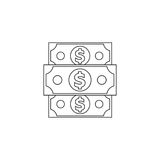 Denomination of the dollar Royalty Free Stock Images
