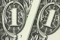 Denomination in one American dollar Stock Photo