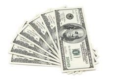 The denomination of one hundred dollars  pyramid Royalty Free Stock Photos