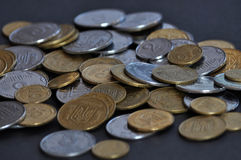 The denominations Ukrainian change and circulating coins Royalty Free Stock Photography