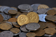 The denominations Ukrainian change and circulating coins_3 Royalty Free Stock Image