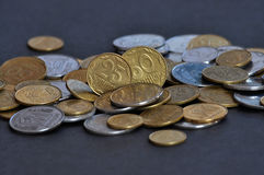 The denominations Ukrainian change and circulating coins_4 Royalty Free Stock Images