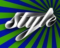 Denomine a beleza elegante da moda passageira da tendência da palavra do roteiro 3d em Vogue ilustração do vetor