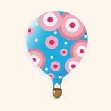 Denomine o vetor dos elementos do tema do ballon do ar quente, eps ilustração do vetor
