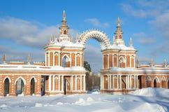 Denreserv `-Tsaritsyno `en, Moskva, Ryssland Arkivbilder