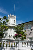 Denrosa slotten nära Bangkok Royaltyfri Bild