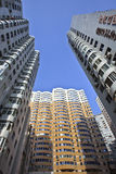 Dense apartment buildings in Dalian. Royalty Free Stock Image