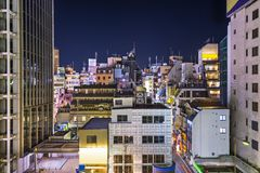 Dense Buildings in Kobe Royalty Free Stock Photo