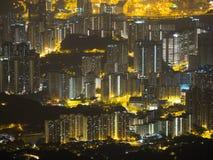 Dense Buliding in Hong Kong. Looks beautiful Hong Kong Style Stock Photo