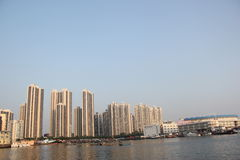Dense city residential in SHENZHEN,CHINA,ASIA Royalty Free Stock Photography