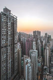 Dense cityscape in Hong Kong Royalty Free Stock Images