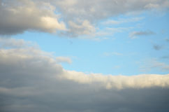 Dense cloud with a clear front edge stock image