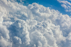 Dense clouds seen from above Royalty Free Stock Photography