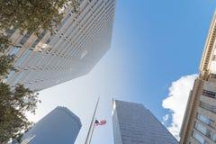 Dense des bâtiments grands d'horizon à Dallas du centre, le Texas, Etats-Unis W image stock